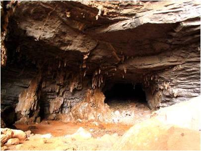 Lapa do Rezar: vista do cânion do Peruaçu e arte rupestre